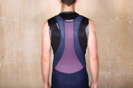 Cafe du Cycliste Marinette Marengo Slate bibshorts - straps back.jpg