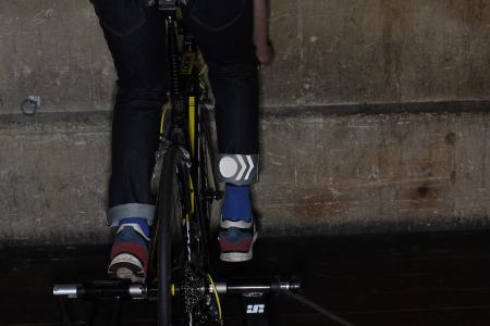 Resolute Bay RB2 Indigo International Edition cycling Jeans - trun up reflecting.jpg