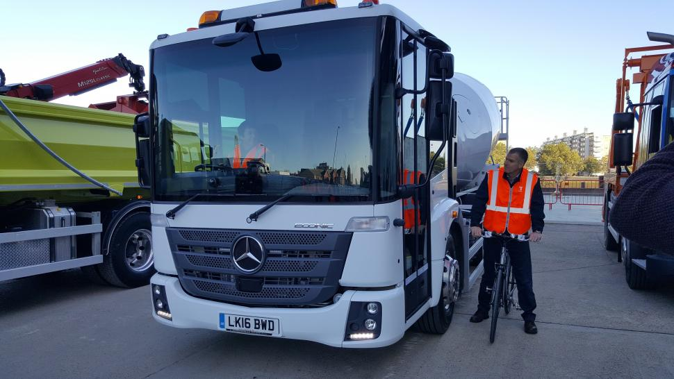 Mercedes Econic at the launch of London's star rating for HGVs