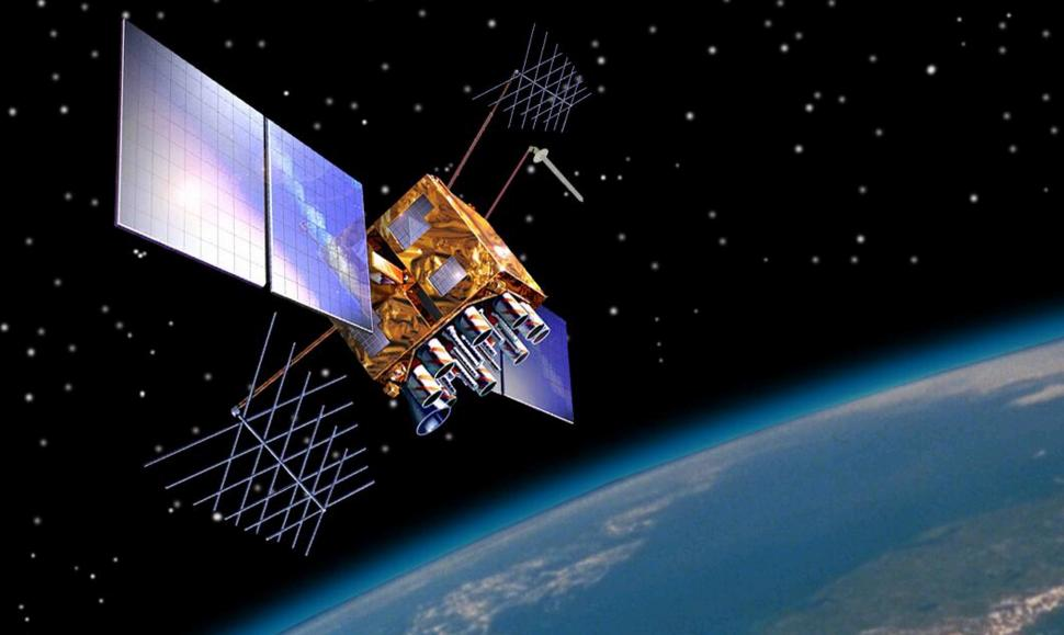 An artists's impression of a GPS satellite (US Government).jpg