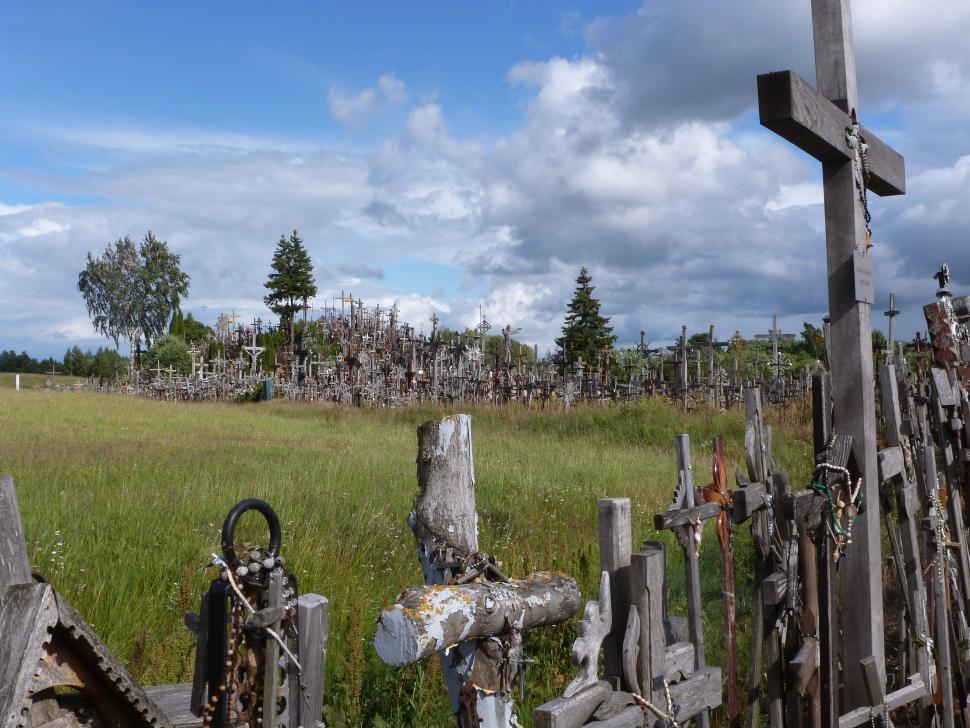 Baltics - Hill of crosses.JPG