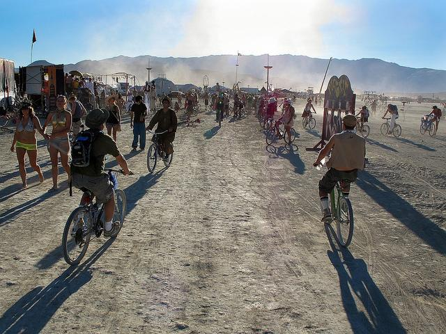 Bicycles at Burning Man (licensed CC BY 2.0 on Flickr by BikeJuJu).jpg