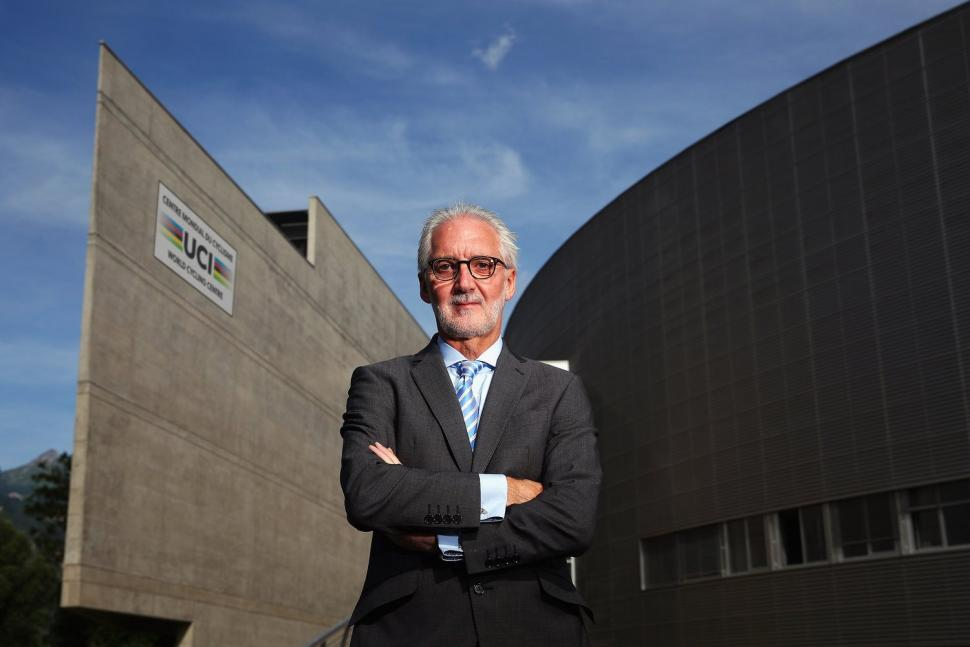 Brian Cookson at the World Cycling Centre in Aigle (source Briancookson.org).jpg