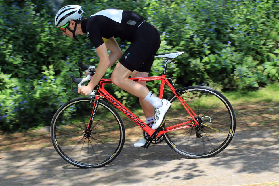 Cannondale SuperSix Evo Hi-Mod Dura Ace One - riding 2.jpg