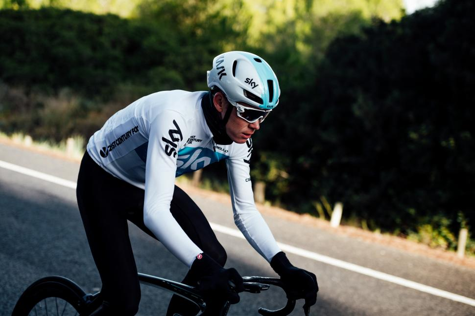 Chris Froome in 2018 Sky kit (via Team Sky)