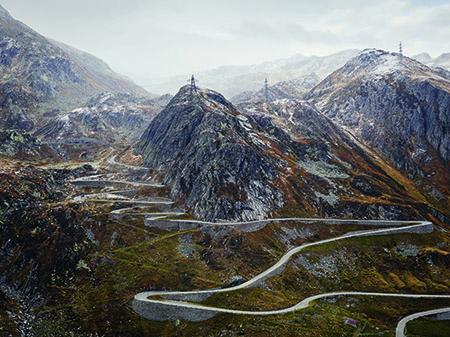 Copyright Michael Blann Gotthard Pass, a regular feature of the Tour de Suisse.jpg