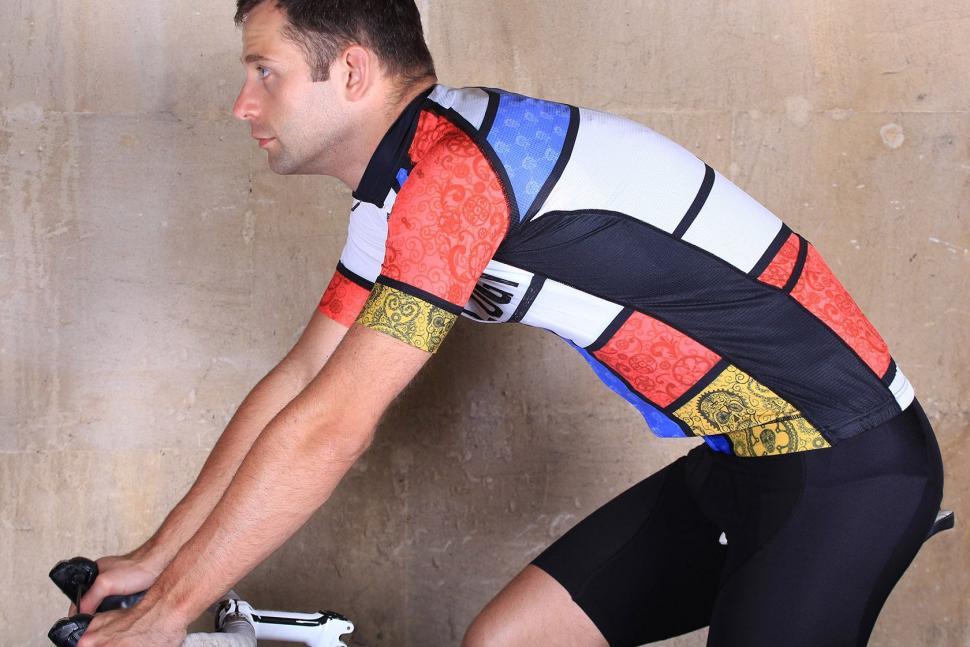 Cycology Mondrian Mens Jersey - riding.jpg