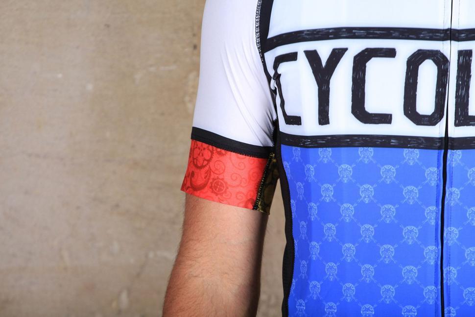 Cycology Mondrian Mens Jersey - sleeve.jpg