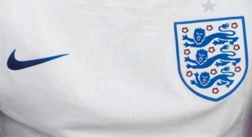 England 2018 football shirt detail (picture via Nike, cropped).JPG