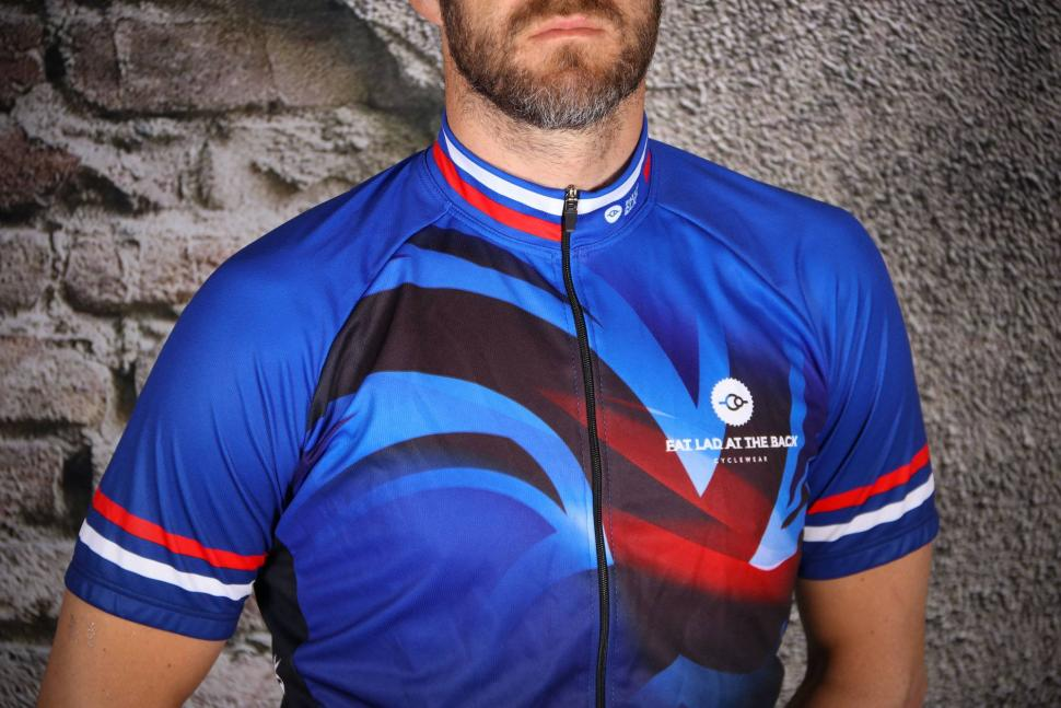 Fat Lad At The Back Men's Short Sleeve Union Jack Cycling Jersey - chest.jpg