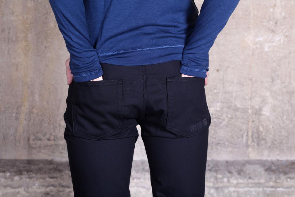 Fox Wilson Mens Black Preston Logo Jeans - back pockets.jpg