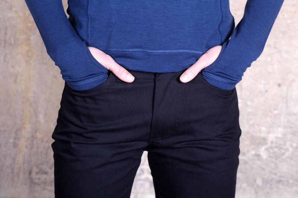 Fox Wilson Mens Black Preston Logo Jeans - front pockets.jpg