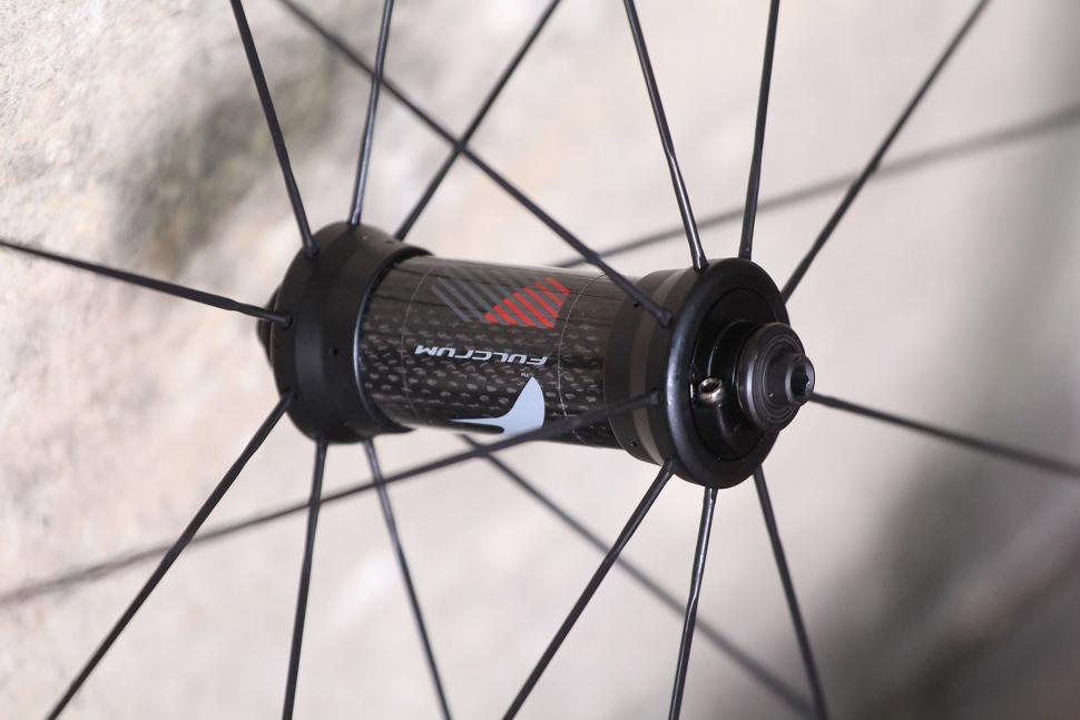 Fulcrum Speed 40T Road Bike Wheel - front hub.jpg