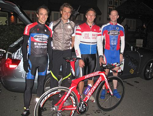 James Cracknell and team mates for E2E Challenge pic courtesy Map My Track