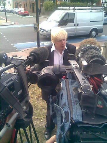 Boris Johnson at Cycle Superhighway launch July 2010