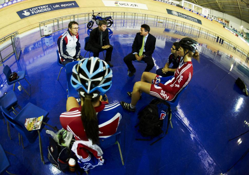 Lord Coe visits Manchester Velodrome (picture credit British Cycling).jpg