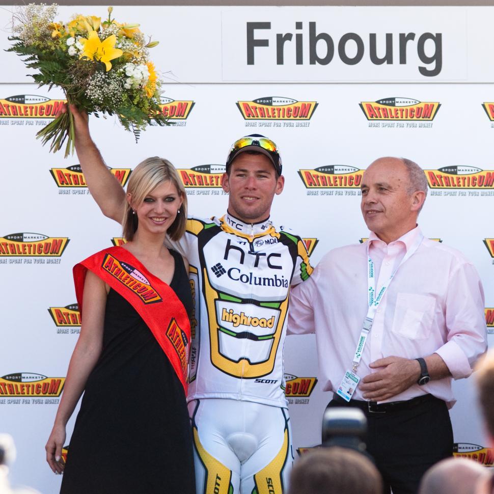 Mark Cavendish wins stage 2 Tour de Romandie 2010 (Ludovic Péron, Wiki Commons)