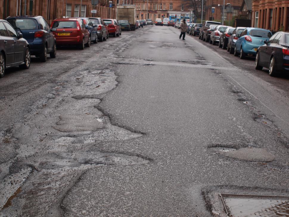 Potholes in Glasgow's Southside.JPG