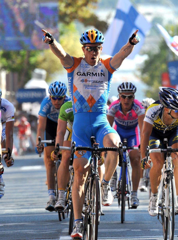 Tyler Farra takes Stage 11 of the Vuelta © Unipublic