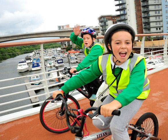 Pont-y-Werin bridge Cardiff (photo: J Bewley/Sustrans)