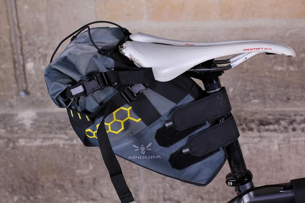 Apidura Saddle Pack - packed down