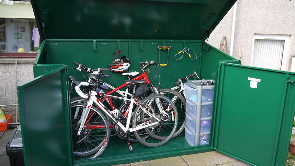 Review Asgard Metal Bike Shed For 29ers Road Cc