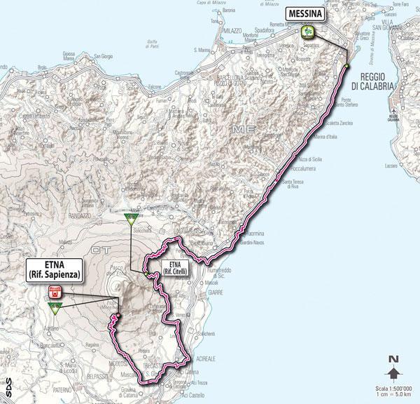 Giro d'Italia 2011 Stage 09 Map