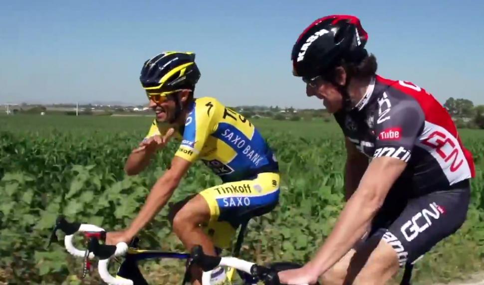 Alberto Contador interviewed by Matt Stephens