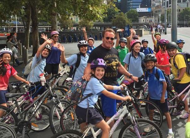 Arnold Schwarzenneger in Melbourne (source Facebook)
