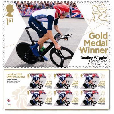 Bradley Wiggins gold medal commemorative stamp