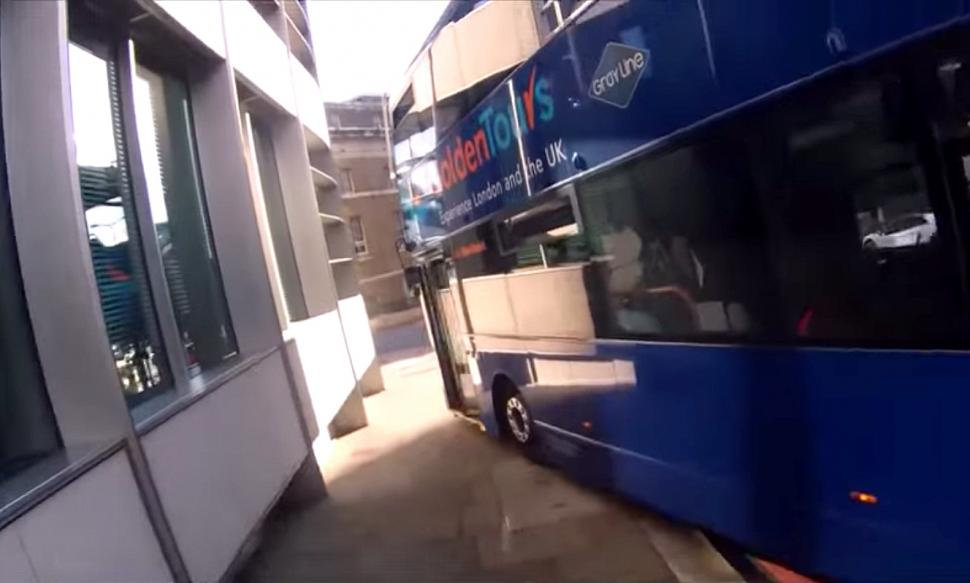 Bus on pavement YouTube clip
