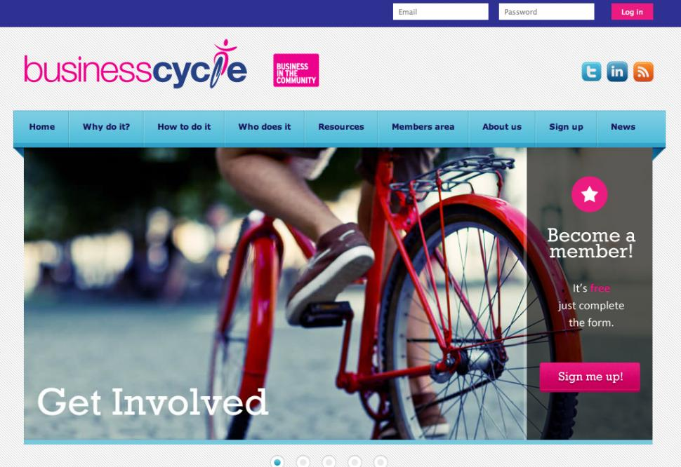 Businesscycle website screenshot