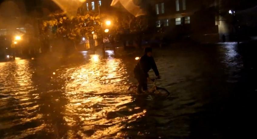 Casey Neistat Hurricane Sandy YouTube still