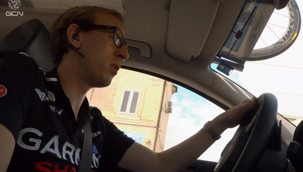 Charly Wegelius at Tirreno YouTube still