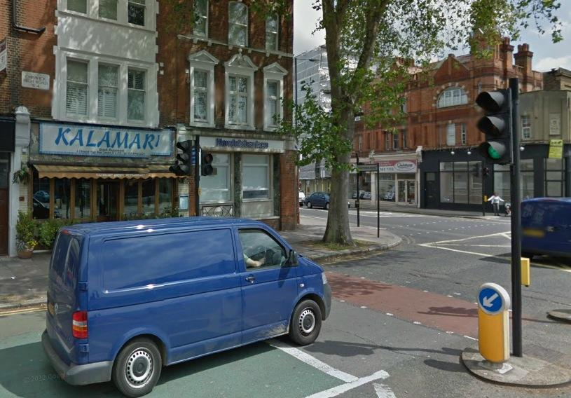 Chiswick High Road junction with Goldhawk Road (Source Google Street View)