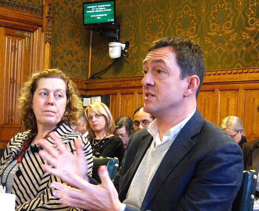 Chris Boardman at the Get Britain Cycling Inquiry