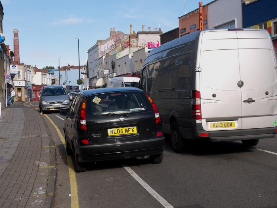 Congestion and parking problems on Bristol's Gloucester Road (CC licensed Sam Saunders)