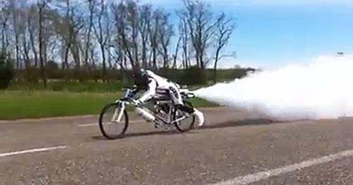 Francois Gissy rocket bike