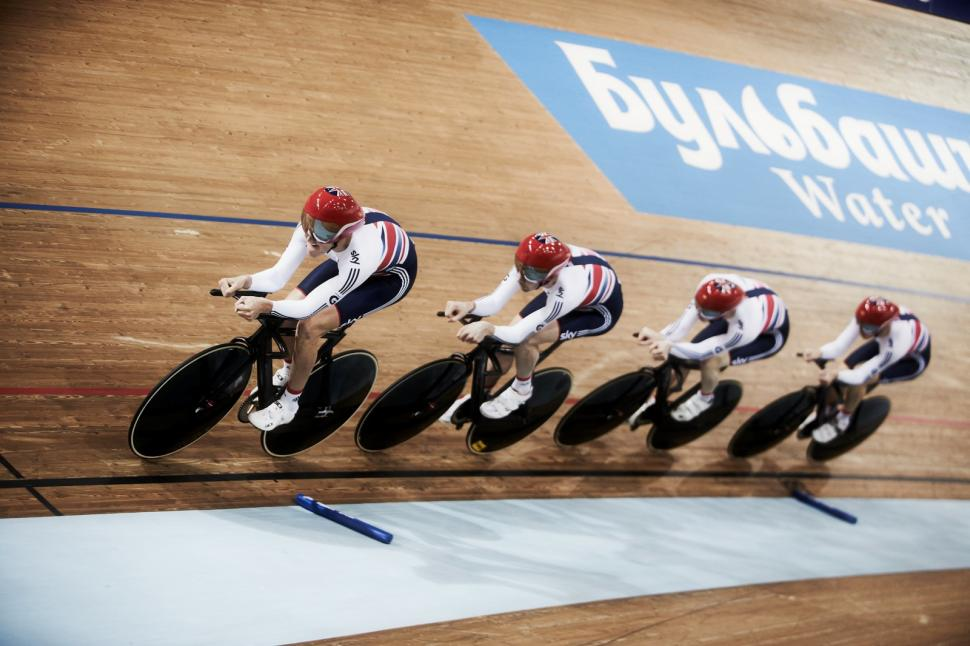 GB men's team pursuit, Minsk 2013 (copyright britishcycling.org.uk)