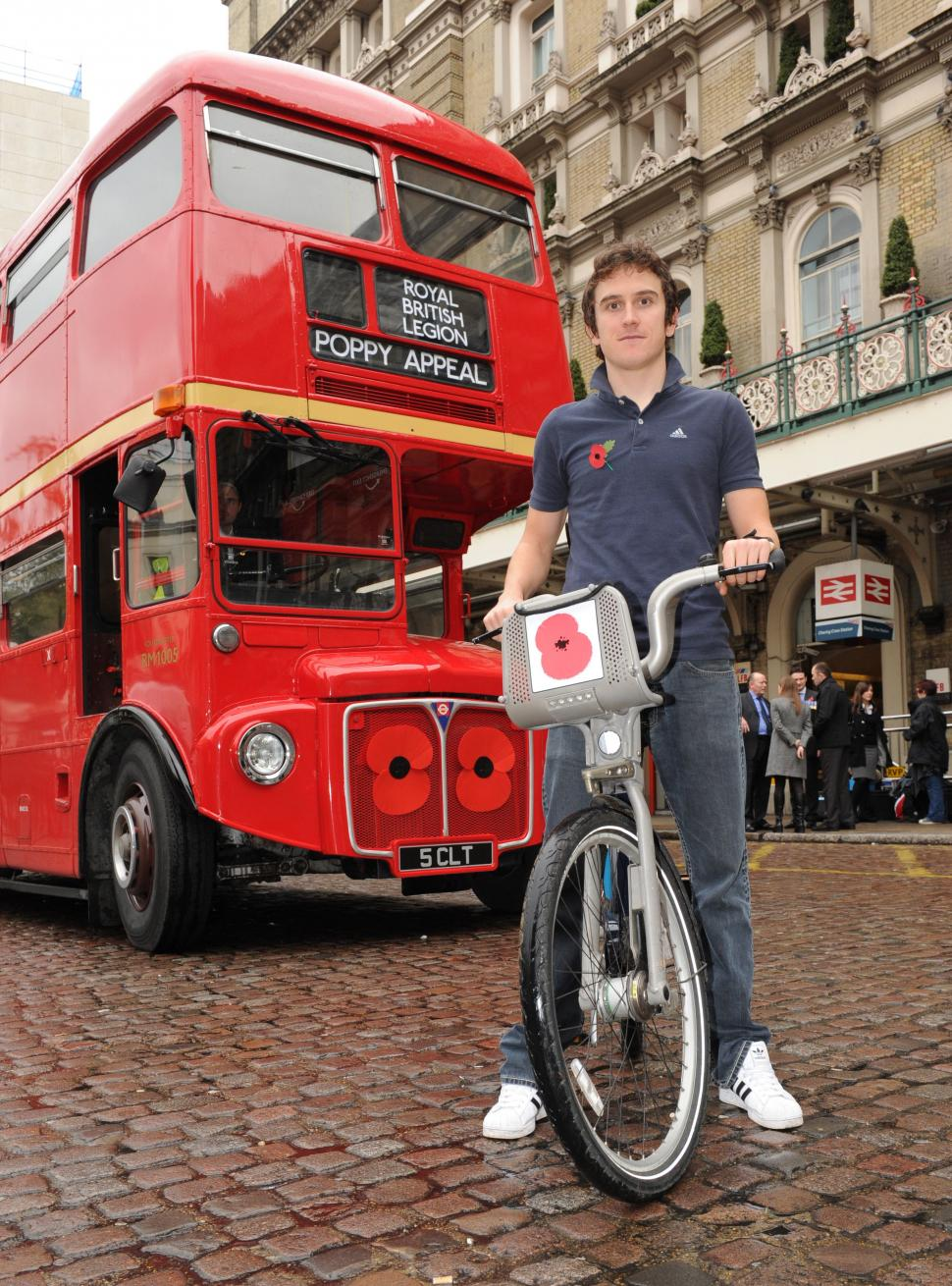 Geraint Thomas on Poppy Bike