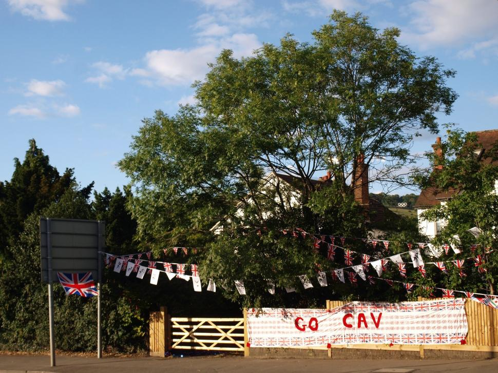 Go Cav and Box Hill Olympic rings (copyright Simon MacMichael)