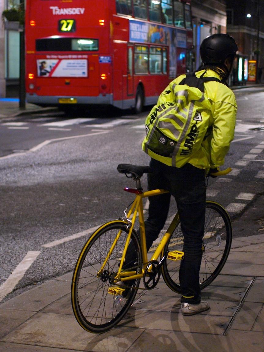 Hi Viz Cyclist London copyright Simon MacMichael