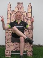 James Davies Wiggo throne (Virgin Money Giving)
