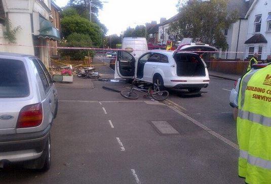 KIngston collision scene (picture courtesy Andrea Craig)