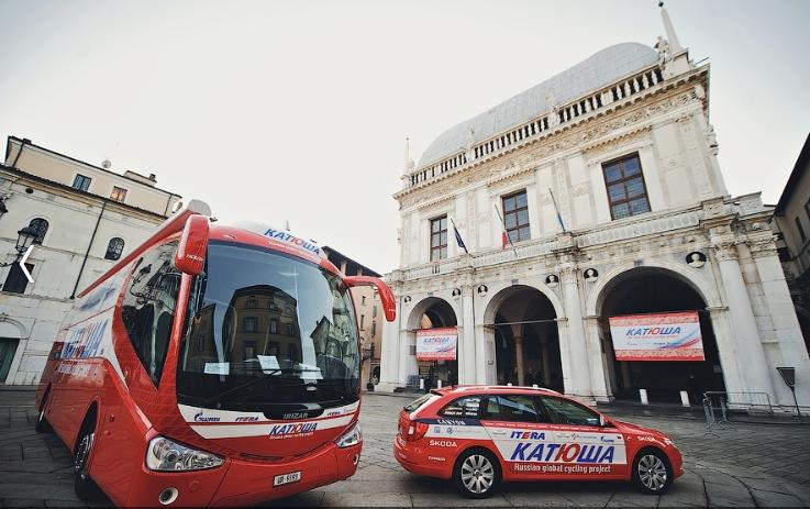 Katusha vehicles (credit Katusha)
