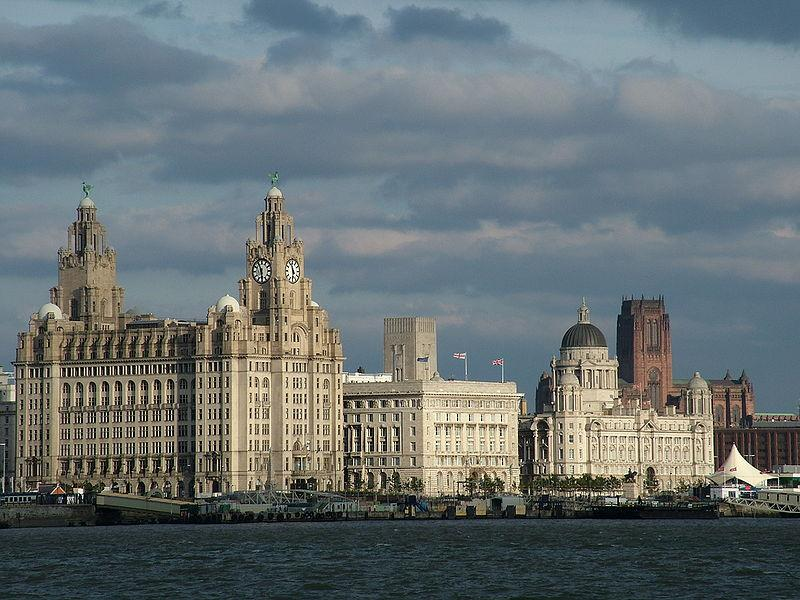 LIverpool Three Graces (CC licensed on Wikimedia by Chowells)