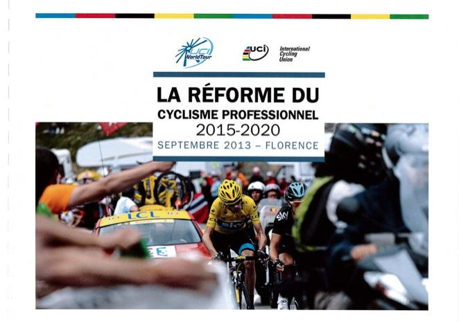 La Reforme du Cyclisme Professionel 2015-2020 report cover