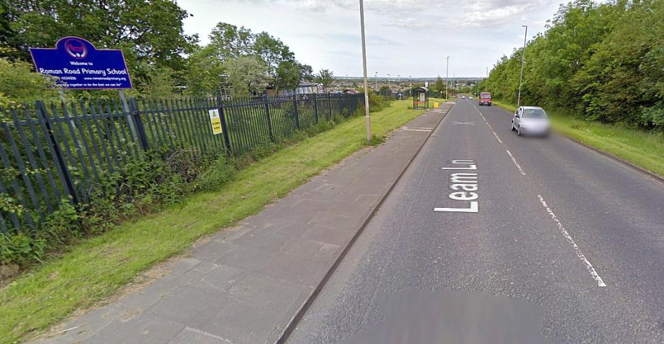 Leam Lane, Gateshead, the fastest 30mph zone in England and Wales (image Google Street View 2012)