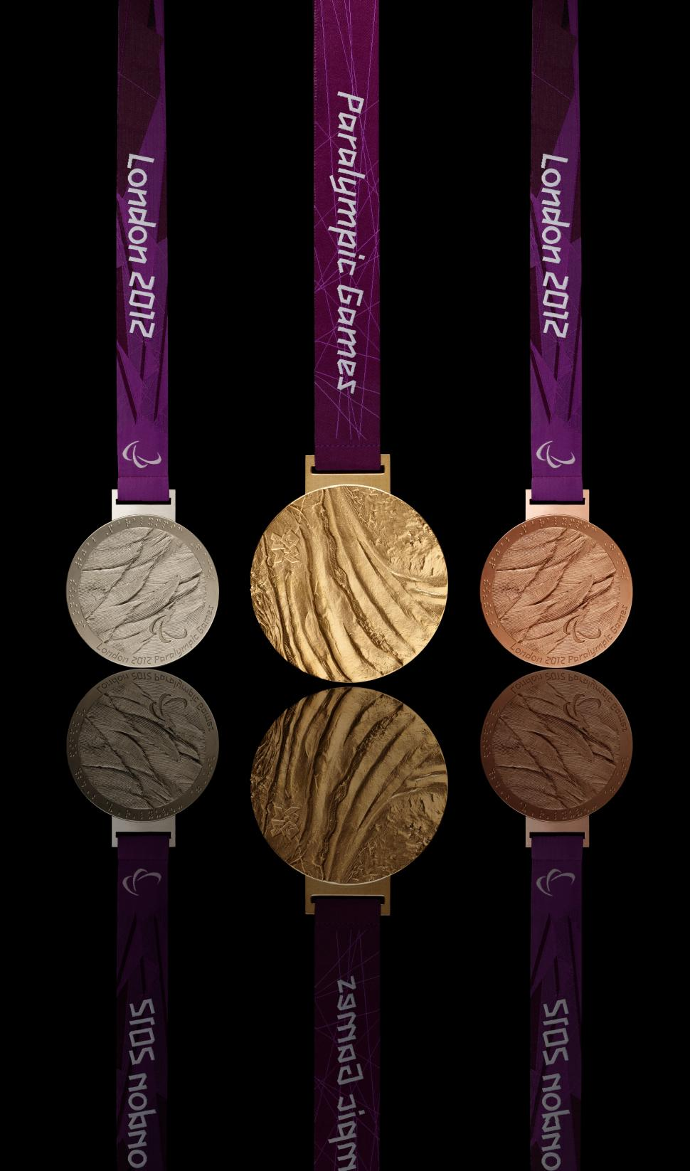 London 2012 Paralympic medals (copyright LOCOG)