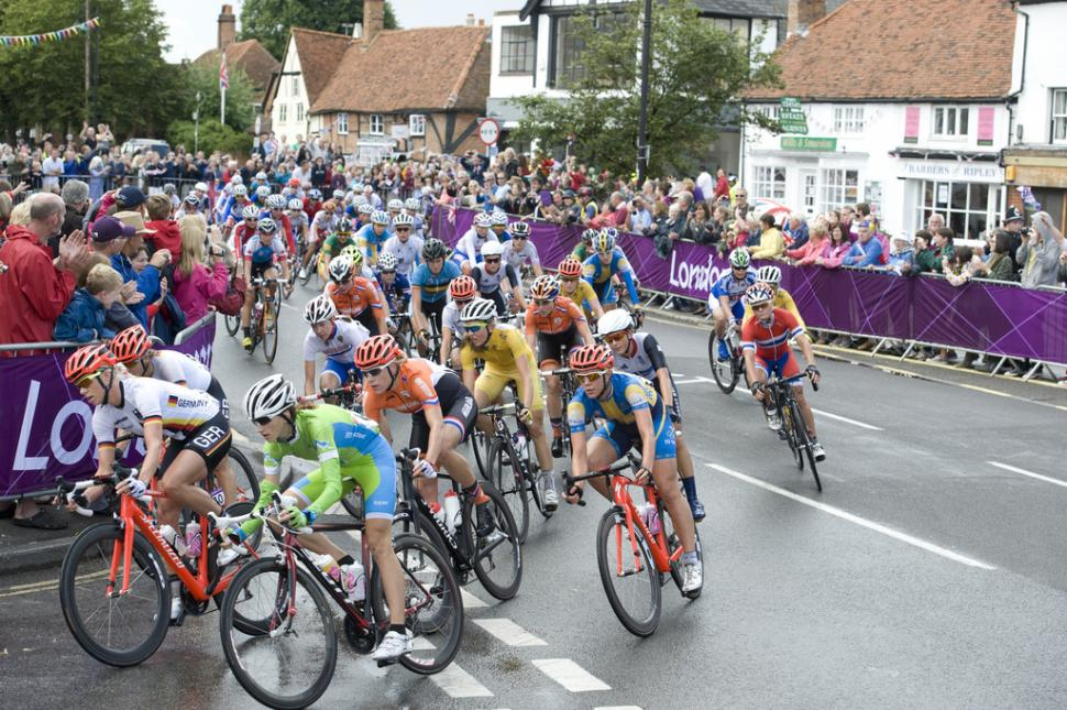 London 2012 Women's Olympic Road Race (copyright Britishcycling.org.uk)